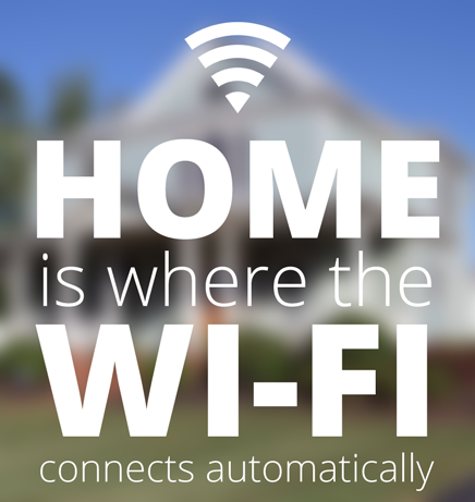 Home is where the Wi-Fi connects automatically